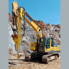 挖改钻之新旧挖机改装液压钻机一机多用 挖改钻钻孔