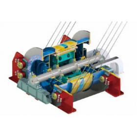永磁电机内装式矿井提升机 ( 多绳摩擦式 )