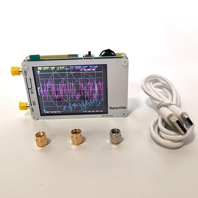Hugen版 白色NanoVNA 矢量网络分析仪 天线 短波 MF HF VHF
