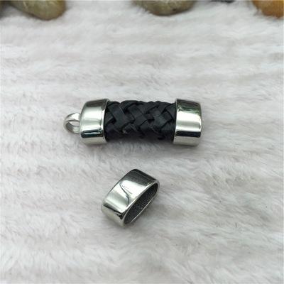 低价批发不锈钢蛇头吊桶 皮绳手链项链连接扣头 五金配件扣