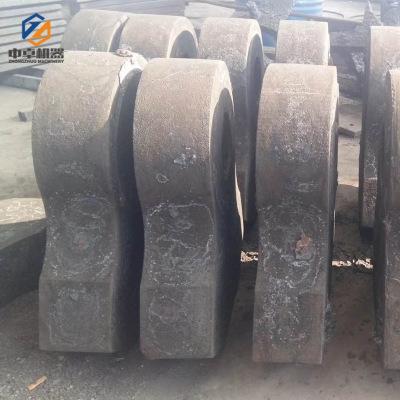来图定制金红石钛铁矿破碎机耐磨合金锤头 100吨锆英石制砂机配件
