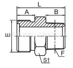 供应公制外螺纹O型圈平面密封/英锥管外螺纹1ET