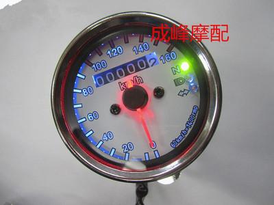 摩托车复古改装小仪表/新款LED信号灯公里表/嘉陵/猴子复古里程表