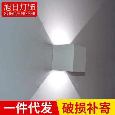 LED铝材防水调光壁灯四方卧室走廊过道展厅射灯 咖啡餐厅格调娱乐