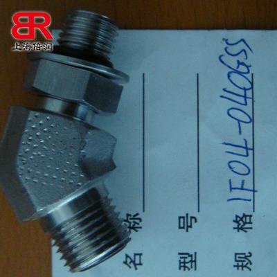 供应美制ORFS外螺纹O形圈平面密封1FO4碳钢材质卡套式弯头转接头