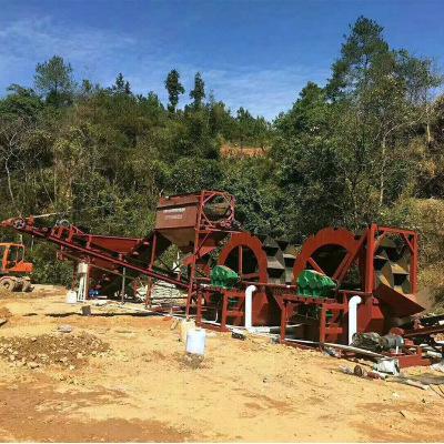 轮斗式细砂回收机大型设备螺旋洗沙制砂一体机 矿用沙场河沙清洗
