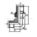 供应美制ORFS外螺纹O形圈平面密封1FO9 弯头转接头碳钢材质