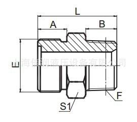 供应 公制外螺纹0型面圈平面密封/布锥管外螺纹1EN