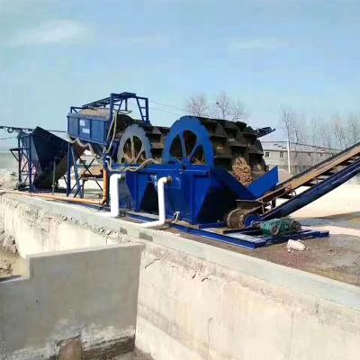 新型轮斗 矿用清洗设备细砂回收机水轮自动矿山设备脱水筛