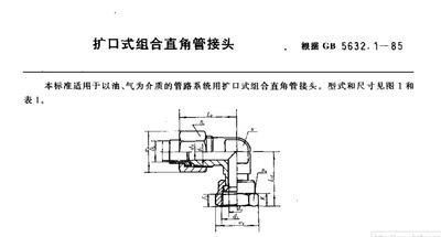 厂家专业生产销售GB5632.1组合直角管接头