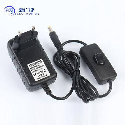 12V1A欧规线上带开关电源适配器LED灯条直流稳压LED驱动开关电源