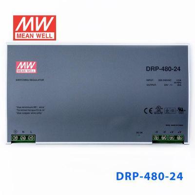DRP-480-24台湾明纬导轨电源 480W 24V 20A 带PFC直流工控驱动器