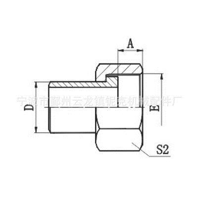 焊接管/公制内螺纹O形圈平面密封液压接头厂家直销