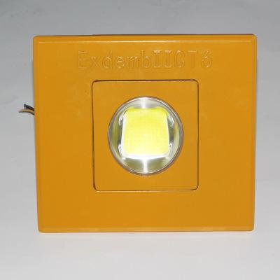跨境专供化工厂工业照明投光灯LED防爆灯50W100W200W300W加油站灯