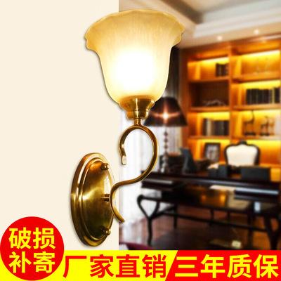厂家批发酒店欧式壁灯 复古家居墙壁灯饰金古铜创意墙壁灯