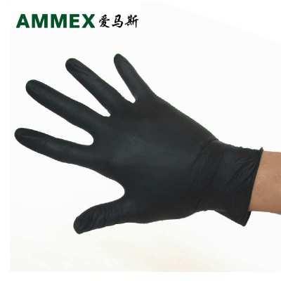 AMMEX/爱玛斯一次性手套工业橡胶加厚手套 实验室耐油耐酸碱防护