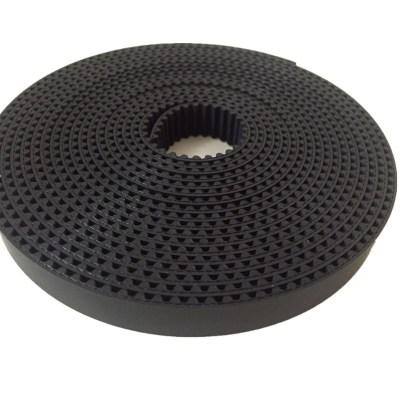 供应打印机同步带 黑色聚氨酯PU传动带齿面布 5M-18 型号齐全耐磨