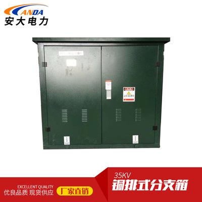 专业供应35KV高压电缆分支箱一进一出 铜排式电缆分接箱带避雷器