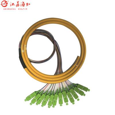 厂家直销 电信级SC/APC型束状尾纤12芯单模单芯光纤跳线1.5米尾纤