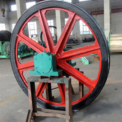 绳轮矿用天轮型号TXG-800/16凿井天轮游动天轮串车游轮设计说明书