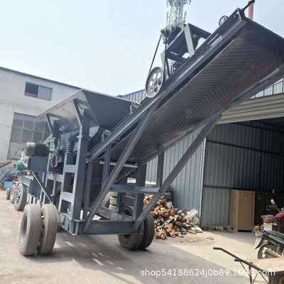 移动式破碎机厂家 大型移动鹅卵式破碎机粉碎机价格 轮胎式破碎机