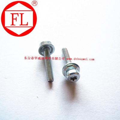 供应不锈钢紧固件 组合螺钉 FL 梅花槽盘头螺钉加八角垫片组合