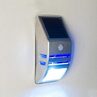 聚阳厂家直销太阳能感应壁灯不锈钢LED户外防水人体智能感应灯