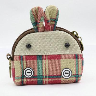 帆布零钱包创意贝壳形动物硬币包跨境货源可爱卡包钥匙包女包批发