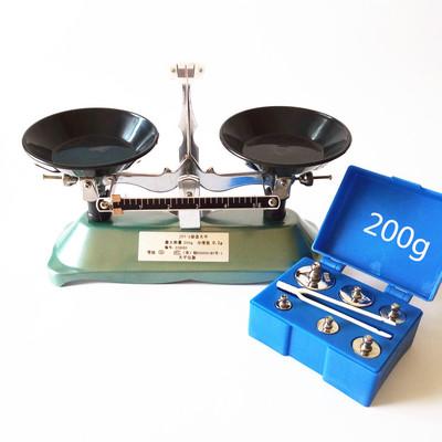 托盘天平 架盘天平 砝码天平仪器100g 200g 500g 1000g/0.1g