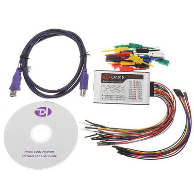 LA1010 USB 逻辑分析仪 100M采样率 16路全通道 可调阈值 PWM输出