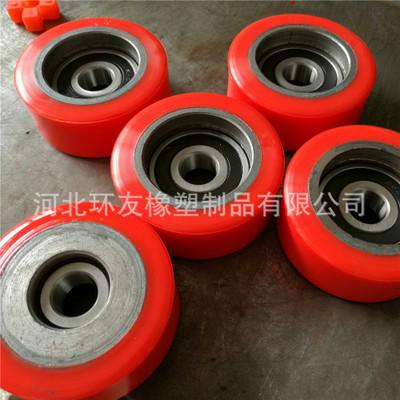 聚氨酯铁芯铝芯包胶辊厂,耐磨耐压PU轴承包胶轮