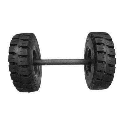 拖车实心车轮6.50-10叉车实心轮胎定做隧道开挖衬砌台车轮28*9-15
