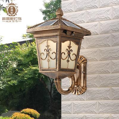 太阳能壁灯户外墙壁灯室外灯入门灯门柱别墅防水庭院灯花园灯家用