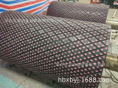 专业生产加工高耐磨陶瓷橡胶复合衬板传送带滚筒专用耐磨陶瓷衬板