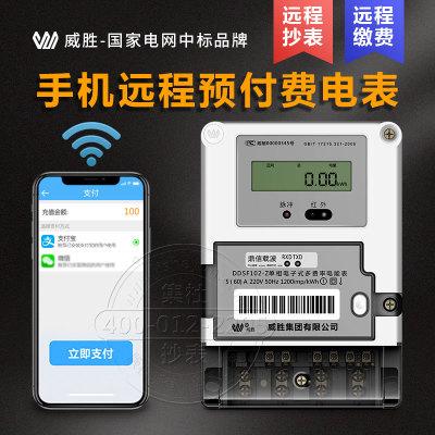 长沙威胜单相电力载波电表 预付费远程智能抄表电度表 DDSF102-Z