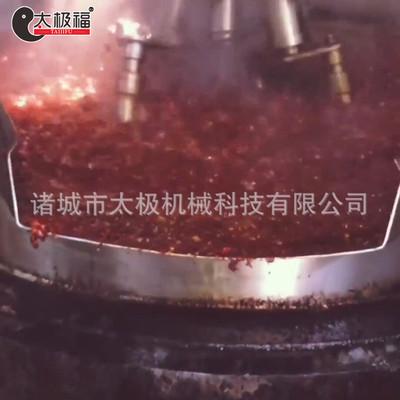 行星搅拌 无任何搅拌盲点可定制牛肉辣酱炒制设备 工业用酱料炒锅
