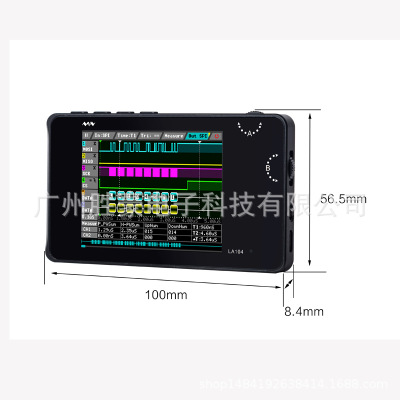 mini脱机式LA104逻辑分析仪4通道SPI IIC UART可编程100M采样率