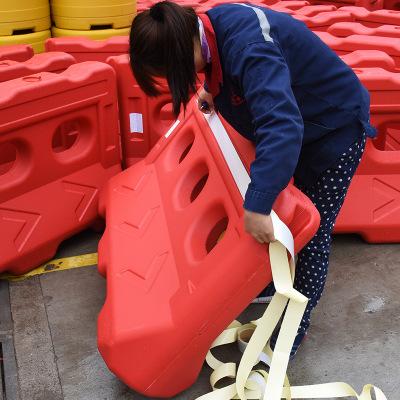 供应全新料三孔水马加厚隔离墩防撞桶无填充塑料保护围挡压不烂