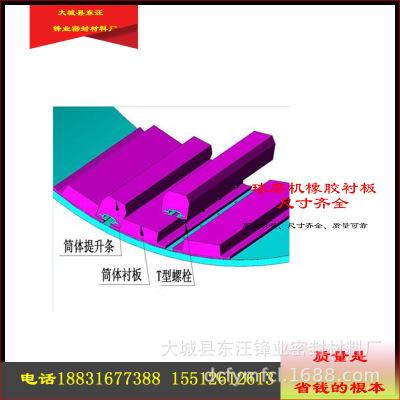 球磨机橡胶衬板 尺寸齐全耐磨损耐腐蚀天然橡胶 润磨机橡胶衬板