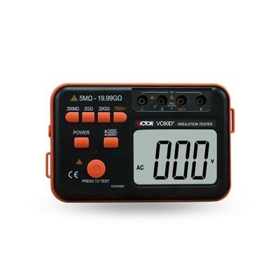 胜利正品 VC60D数字高压兆欧表1000V 2500V 绝缘电阻测试仪 摇表