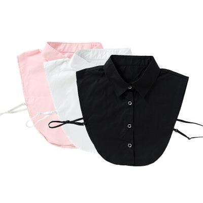 加长款 衬衫假领子职业通勤ol女士假领 定制搭配西装衣领节约
