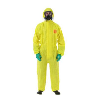 批发微护佳3000耐酸碱防化学品防护服 带帽连体 轻型防化服