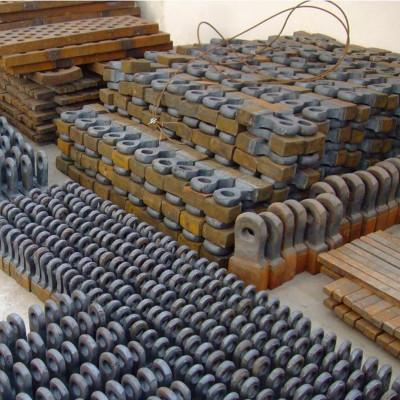 供应各种型号煤矸石双击锤式粉碎机锤头板锤配件厂家直销