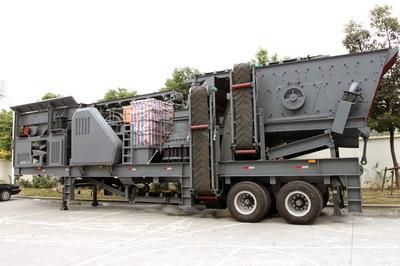 移动建筑垃圾破碎机可分期付款  轮胎式移动破碎站可分期