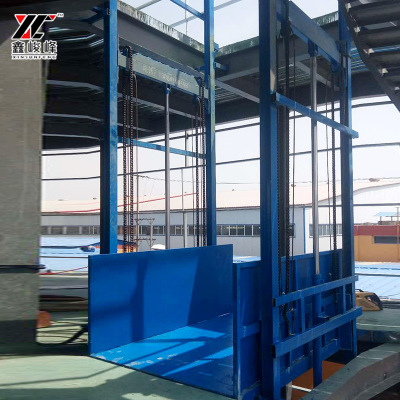 导轨升降货梯厂家 液压升降平台 厂房简易升降货梯升降机实体厂家