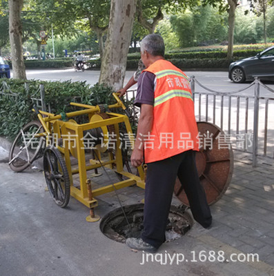 直销掏挖式市政排水管道疏通清淤推车参数视频报价