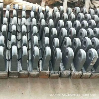 高开定制加工双液复合破锤头 高锰钢衬板配件 金属铸造破碎机锤头