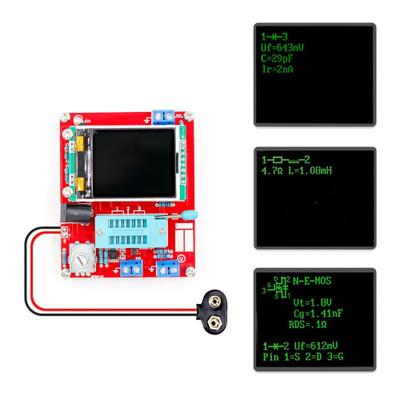 GM328 晶体管测试仪 测频仪 PWM 方波 LCR表 电压表 全彩屏图形