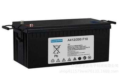 sonnensoecin蓄电池A412/100A胶体免维护12V100AH阀控式密闭