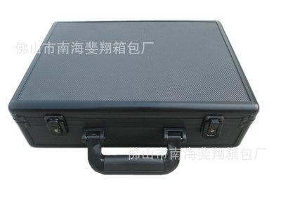 供应全黑色手提铝箱 铝合金工具箱 仪器包装箱 可LOGO 印刷